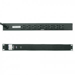 Dynapower 1440W 15ft 1U 8 Outlets Basic Power Distribution Unit(PDU)