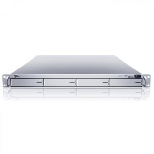 Silver Sans Digital EliteNAS EN104L+ 1U 4-Bay Intel Atom Dual Core Linux NAS + iSCSI Rackmount Server