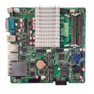 Jetway NF9HG-2930 NF9HG Mini-ITX Motherboard, Intel Celeron N2930 SoC Processor, DDR3-1333, SATA 3Gb/s, 4x Gigabit LAN, COM Port, USB3.0.