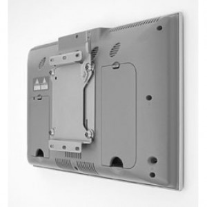 Silver Metallic Chief Small Flat Panel Display Mounts, Static Wall Mount Q2 Mounting System, Model: FSM-4100.