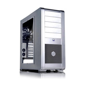 Silver SilverStone FT-01-SW Aluminum ATX Mid-Tower Uni-body Computer Case