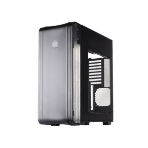 Black SilverStone Fortress Series FT04B-W Extended ATX Aluminum Full Tower Computer Case