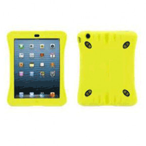 Griffin Survivor Play Carrying Case for iPad Air, Color Citron, Bump Resistant, Silicone, P/N: GB36293.
