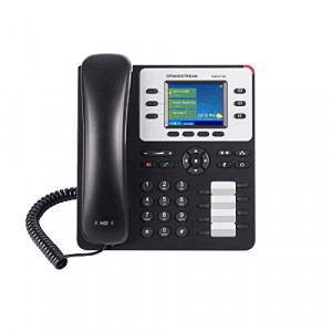 Grandstream GS-GXP2130 Enterprise IP Telephone with 2.8-Inch Color Display, 3 SIP Accounts, Gigabit Ethernet, PoE, EHS