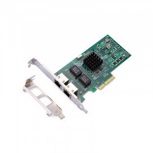 HiRO H50312 Intel I350 PCI-E 4x Dual Port 2x Gigabit Ethernet Server Adapter.