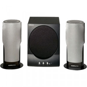 HANNspree Armor 2.1 Channel 3-Piece Subwoofer & Satellite Speaker System