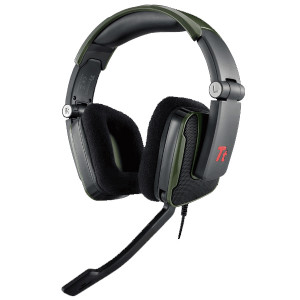 Green Tt eSPORTS by Thermaltake SHOCK Battle Edition Gaming Headset