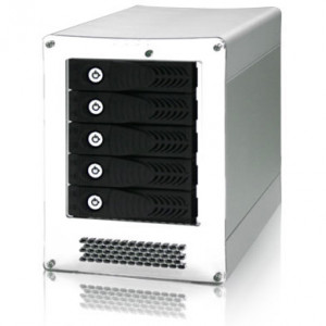iStarUSA Tower 5-Bay Hot-Swap SATA to eSATA Multiplier Port HDD Enclosure. Model: iAGE520ES-PM.