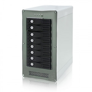 RaidAge Aluminum Stylish Tower 8-Bay Multilane SAS/SATA Enclosure