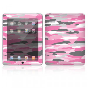 DecalSkin Apple iPad Skin - Pink Camo