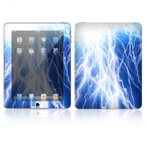 Decal Skin Apple iPad Skin - Lightning, Made out of Vinyl, P/N: IPD-Z16.