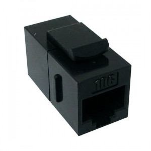 CAT6A Slim K62A-3290-CJ-BK Snap-In Inline Coupler