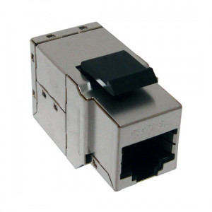 CAT6A Slim K62A-3291-CJ-S MIG+ Shielded Snap-In Inline Coupler
