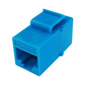 Primus Cable K65-2540-CJ-BL CAT6 Inline Coupler, Unshielded, Snap-In w/Latch, Blue