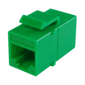 Primus Cable K65-4181-CJ-GR CAT6 Inline Coupler, Unshielded, Snap-In w/Latch, Green