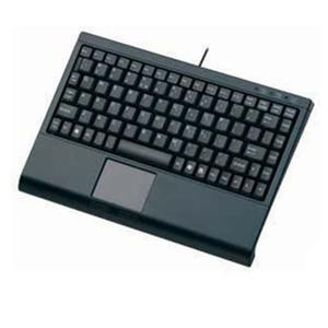 Solidtek KB-3910BL Mini Keyboard, Touchpad, Black.