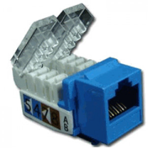 Blue Cat 5E Toolless RJ45 Keystone Jack