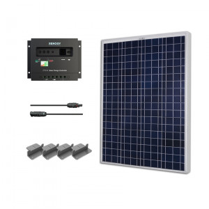 Renogy KIT-STARTER100P 100W Polycrystalline Starter Kit: 100W Polycrystalline Solar Panel + PWM 30A Charge Controller + MC4 Adapter Kit + Mounting Z Brackets.