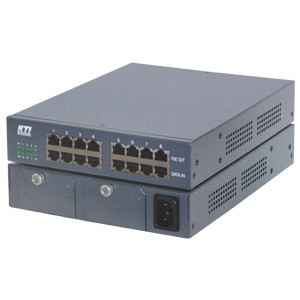 KTI Networks KPOE-800-1P 8-Port PoE Midspan Injector with 1 of 60W Power (60W for remote PoE PDs), 19-inch Rack Mounting Support