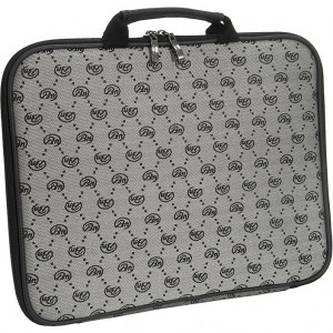 Notebook Shock Absorbing 13in Laptop Bag, Model: Silver Venice