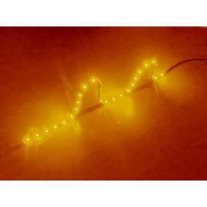 Logisys Amber 24in 12V LED Strip Light