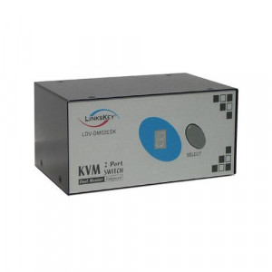 Linkskey LDV-DM02ESK 2-Port Dual Monitor DVI PS/2 KVM Switch