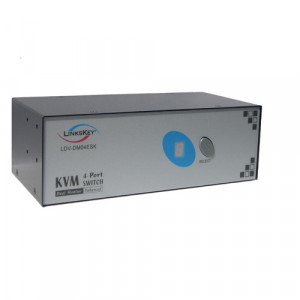 Linkskey LDV-DM04ESK 4-Port Dual Monitor DVI PS/2 KVM Switch