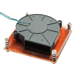 Evercool 1U Server CPU Cooler LGAL2011A-B715P, for Intel LGA 2011 CPUs, PWM Function Fan for a Silent Operation