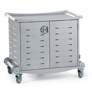 Anthro 30 Unit Laptop and Notebook Storage Cart, Store / Charge / Transport, P/N: LTSC30WH/SM.