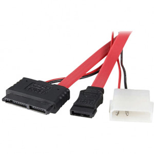 StarTech.com 12in Micro SATA to SATA with LP4 Power Adapter Cable, Model: MCSATAF20