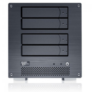 Sans Digital MobileNAS NAS + iSCSI 4-Bay Network Storage Server Tower