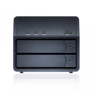 Black Sans Digital MobileRAID MR2UT+B 3.5in 2 Bay SATA to eSATA/USB 3.0 External Hard Drive Enclosure