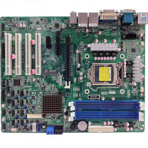 Jetway NAF93-Q77 NAF93 LGA 1155 ATX Motherboard, Supports 3 Gen Intel Core i7 Processor, DDR3-1333, SATA 6Gb/s, 2x Gigabit LAN, HDMI, DVI, COM Port, USB3.0, 5.1-Ch HD Audio.