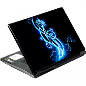 DecalSkin Abstract Neon Laptop Skin