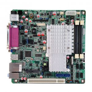 Jetway NC9I-525-OC NC9I Mini-ITX Motherboard, 2nd Generation Intel Atom Dual Core D525, Single DDR3 1066, SATA 3Gb/s, Gigabit LAN, VGA, USB2.0, 5.1-Ch Audio.