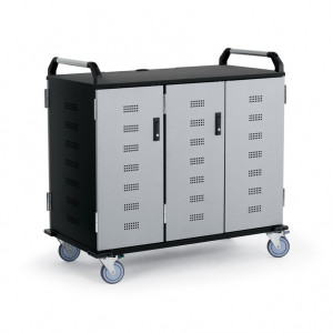 Anthro NCC Series 30 Unit Laptop and Notebook Charging Cart, with Cooling Fan, P/N: NCCD30BK/SM5.