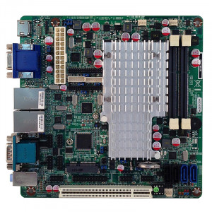 Jetway NF9B-2550 NF9B Mini-ITX Motherboard, Intel Atom Dual Core D2550, DDR3-1066, SATA 6Gb/s, Gigabit LAN, HDMI, COM Port, USB2.0, 5.1-Ch HD Audio.