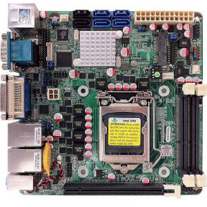 Jetway NF9E-Q77 NF9E Mini-ITX Motherboard, Supports Intel Core i7 Processor, Dual DDR3-1333, SATA 6Gb/s, 2x Gigabit LAN, HDMI, COM Port, USB3.0, 5.1-Ch HD Audio.