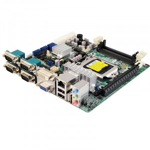 Jetway NF9F-H61 NF9F Socket LGA 1155 Mini-ITX Motherboard, Supports Intel 2th Generation Core i7 / i5 / i3 Processor, Dual DDR3-1333, SATA 3Gb/s, Gigabit LAN, DVI, COM Port, USB2.0, 5.1-Ch HD Audio.