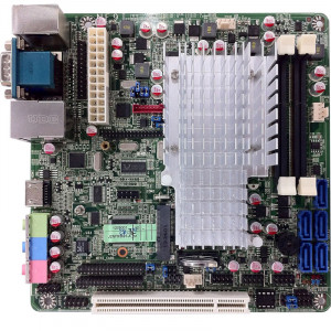 Jetway NF9I-2550 NF9I Mini-ITX Motherboard, 3rd Generation Intel Atom Dual Core D2550 Processor, Single DDR3-1066, SATA 3Gb/s RAID, Gigabit LAN, HDMI, VGA, COM Port, USB2.0, 5.1-Ch HD Audio.