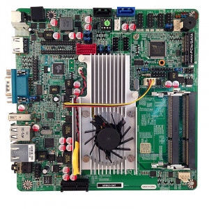 Jetway NF9KC-1047 NF9KC Mini-ITX Motherboard, Intel Celeron 1047UE Dual Core Mobile Processor, Dual DDR3-1600, SATA III, Gigabit LAN, HDMI, COM Port, USB3.0, 5.1-Ch HD Audio.
