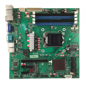 Jetway NMF94RM-Q87 LGA 1150 Micro ATX Motherboard, Supports 4th Generation Intel Core i7 / i5 / i3 / Pentium Processor, Dual DDR3 1600, 2xGigabit Ethernet, SATA 6Gb/s, RAID, HDMI, VGA, USB3.0.