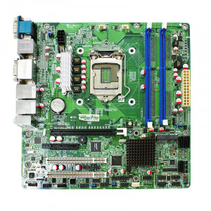 Jetway NMF95-H81 LGA 1150 Micro ATX Motherboard, Supports 4th Generation Intel Core i7 / i5 / i3 / Pentium Processor, Dual DDR3 1600, 2xGigabit Ethernet, SATA 6Gb/s, Display Port, HDMI, USB3.0, 5.1-Ch Audio.