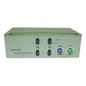 Alpha and Omega 2-Port PS/2 KVM Switch