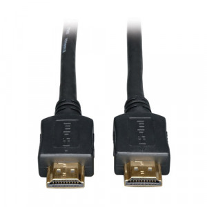 Black Tripp Lite P568-025 25-ft High Speed v1.3 HDMI Gold Digital Video Cable