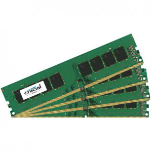 Crucial CT4K16G4DFD824A 64GB(4 x 16GB) DDR4-2400 Quad Channel Desktop Memory