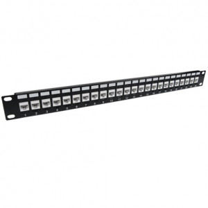 CAT 6A 24-Port 1U Rack Mount Network Patch Panel