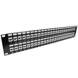 CAT 6A 48-Port 2U Rack Mount Network Patch Panel