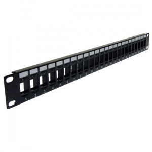 CAT6A Blank 1U PP3-3258/24+K62A-4374/180/Wx24 High Density 24 Ports Patch Panel