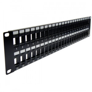 CAT6A Blank 2U PP3-3259/48+K62A-4374/180/Wx48 High Density 48 Ports Patch Panel